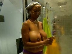 biggest tits: annabel big brother africa shower