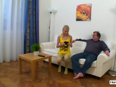 shy young girl screwed by old dude