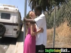 young daughter with worthy gazoo drilled by a