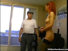 maid in nylons receives banged