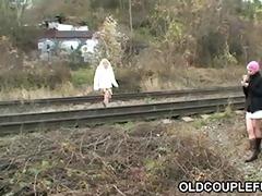 old pair fucking railway slut