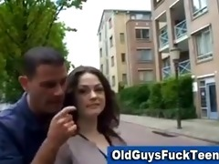 old boy oral-stimulation by hot younger babe