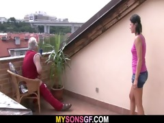 concupiscent dad bangs his son&#039 s gf