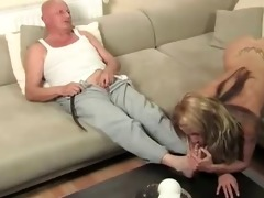 old man fucks youthful blonde