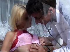 horny doctor bonks a juvenile busty chick