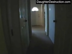 young daughter raw drilled in backseat