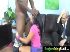 watching how my daughter is fucked by my black