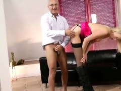 spruce blond fucked by old stud