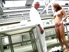 youthful wazoo redhead receives undressed in