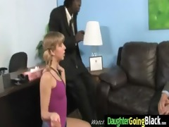 youthful daughter with nice ass fucked by a dark
