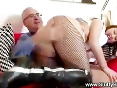 lucky old man bonks young pussy