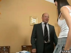 lustful teacher fucks coeds.