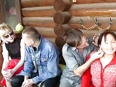 youthful and old swinger couples fuck together by