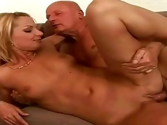 favourable granddad enjoying hot sex with legal