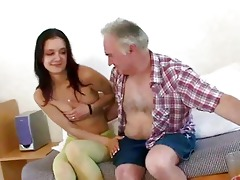 old dude seducing youthful gal