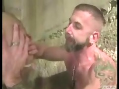 hawt muscled daddys rim,facefuck,then raw breed