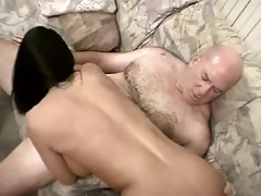 sexy bald dad bags one more youthful bimbo