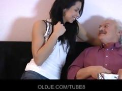 old man bonks beautiful lady on xmas ht