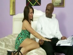hungry step daughter gets a mouthful