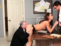 angel taking cock from both ends in psycho porn