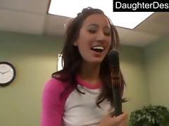ravishing legal age teenager daughter copulates