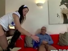 lucky old chap fucks juvenile snatch