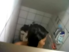 clip - wife sister bathroom hidden cam spy