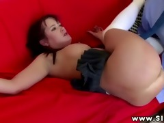 big titted chick sucking and fucking for this old