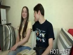 good gangbang with teen gal