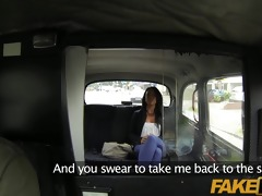 faketaxi she is is left with cum down her leg