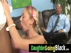 darksome fellow fucks my daughters young cum-hole