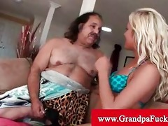 grandpa jeremy gets his cock sucked