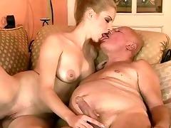 very old grandpa fucks young gal