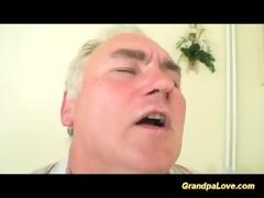old man is screwed by hot nurse