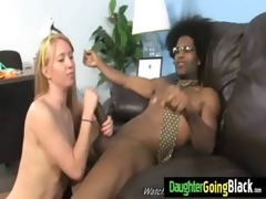 fine to watch my daughter getting a black monster