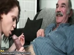 he is is old but his cock is biggest and willing