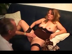 german granddad cums in