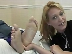tickling large foot
