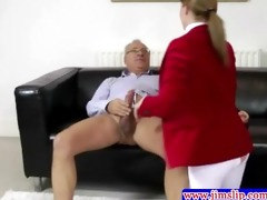 dark brown babe fucked into ass by old man