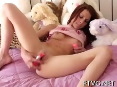 cum-hole of babe is fisted