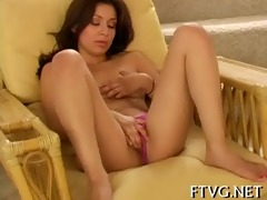 babe plays with sextoy
