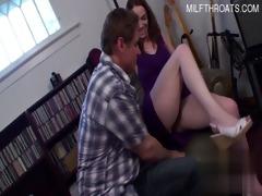 sexy daughter cumshot in throat
