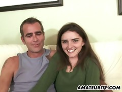 youthful amateur girlfriend sucks and copulates